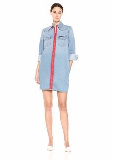 Calvin Klein Women's Long Sleeve Denim Dress