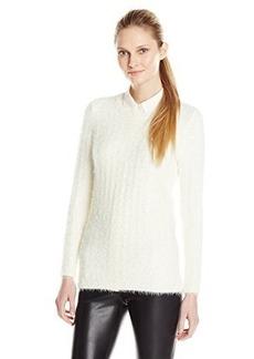 Calvin Klein Women's Long Sleeve Eyelash Pullover