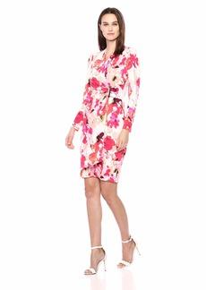 Calvin Klein Women's Long Sleeve Faux Wrap Dress