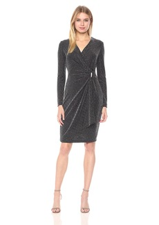 Calvin Klein Women's Faux Wrap Dress With Hardware