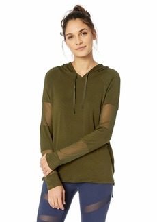 Calvin Klein Women's Long Sleeve Hoodie with Mesh Insets