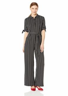 Calvin Klein Women's Long Sleeve Jumpsuit with Self Belt