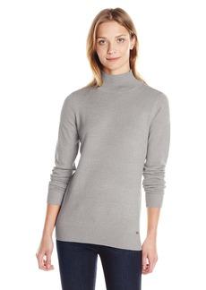 Calvin Klein Women's Long Sleeve Lurex Mock Neck Sweater