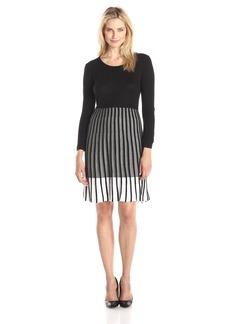 Calvin Klein Women's Long Sleeve Ombre Sweater Dress