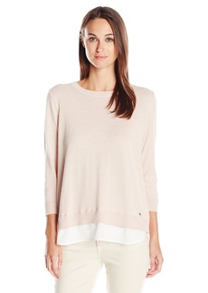 Calvin Klein Women's Long Sleeve Open Back Pullover