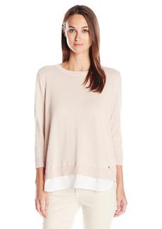 Calvin Klein Women's Long Sleeve Open Back Pullover