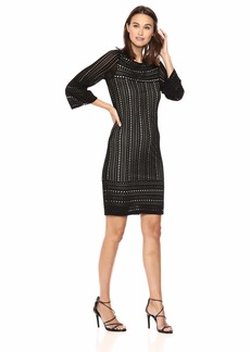 Calvin Klein Women's Long Sleeve Perforated Sweater Dress  L