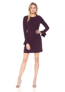 Calvin Klein Women's Long Sleeve Round Neck Sheath Dress