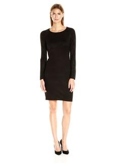 Calvin Klein Women's Long Sleeve Sweater Dress with Hot Fix Detail  M