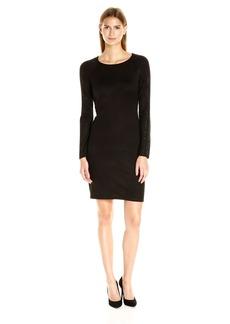 Calvin Klein Women's Long Sleeve Sweater Dress with Hot Fix Detail  XL