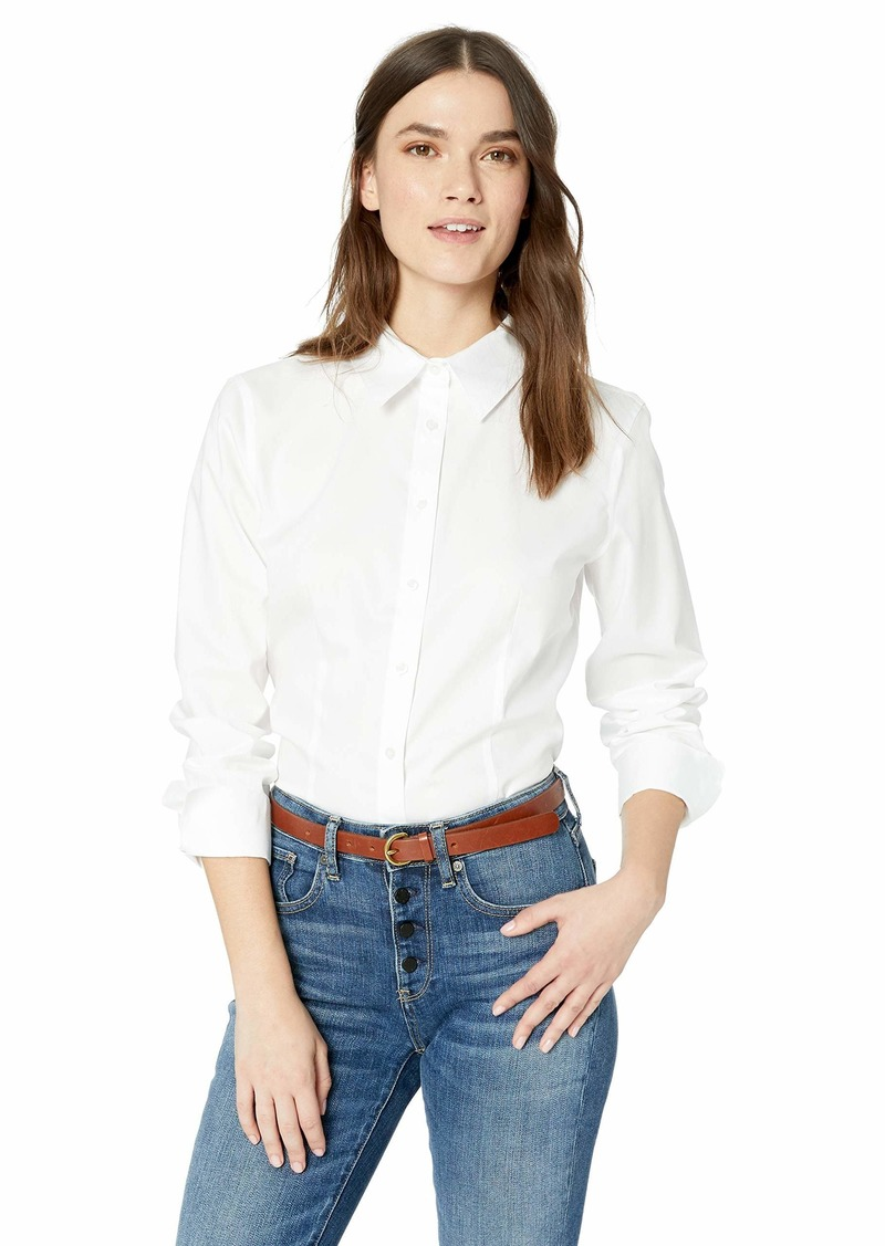 Calvin Klein Women's Long Sleeve Wrinkle Free Button Down Blouse
