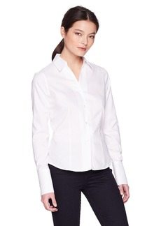 Calvin Klein Women's Long Sleeve Wrinkle Free Button Down Top