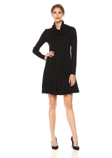 Calvin Klein Women's Long Sleeved Turtleneck Sweater Dress  L