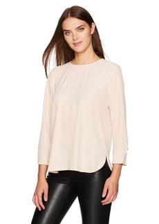 Calvin Klein Women's Longsleeve Blouse With Button Detail  XS