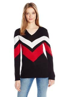 Calvin Klein Women's L/s Striped Sweater  XL