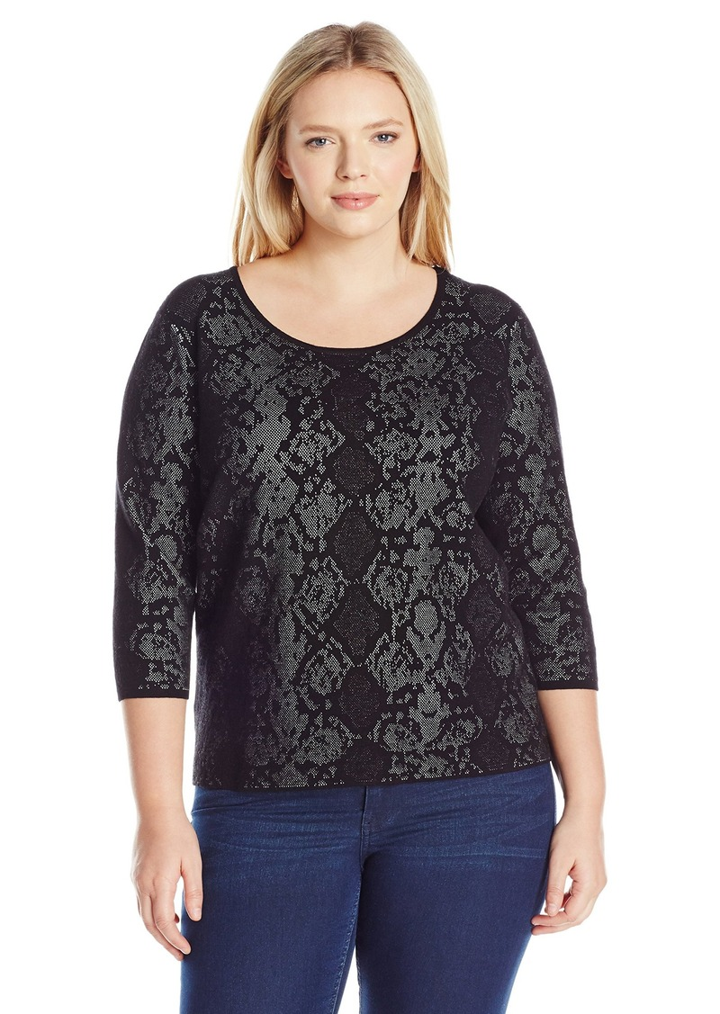 Calvin Klein Women's L/s Sweater with Snake Detail  L