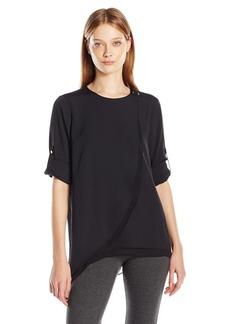 Calvin Klein Women's L/s Tiered Layer Top