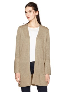 Calvin Klein Women's Lurex Bell Sleeve Cardigan  XL