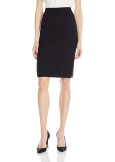 Calvin Klein Women's Lurex Stitch Pencil Skirt  L