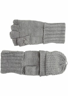 Calvin Klein Women's Lurex Textured Flip Top Glove heather mid grey O/S