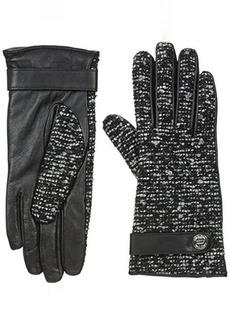 Calvin Klein Women's Lurex Tweed Leather Glove