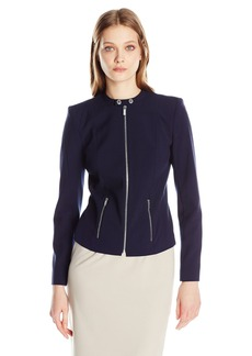 Calvin Klein Women's Lux Jacket with Zipper