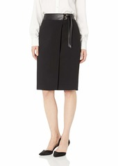 Calvin Klein Women's LUX Skirt with Belt and PU
