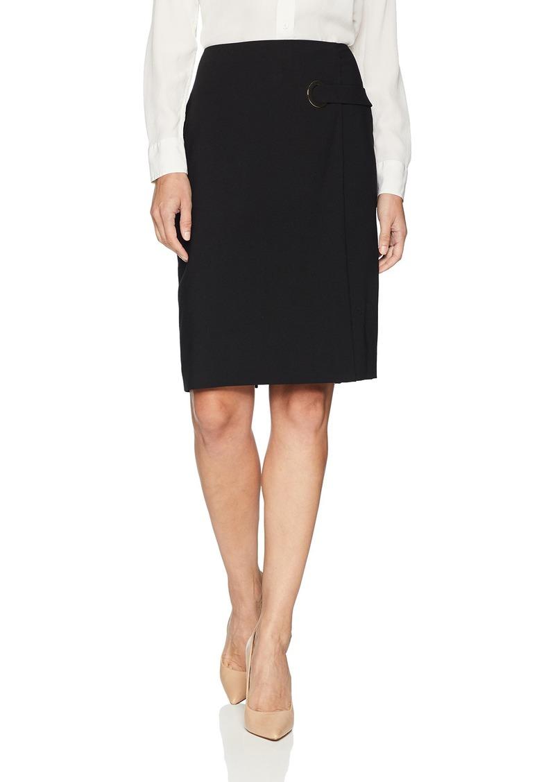 Calvin Klein Women's Lux Skirt with Grommet Detail