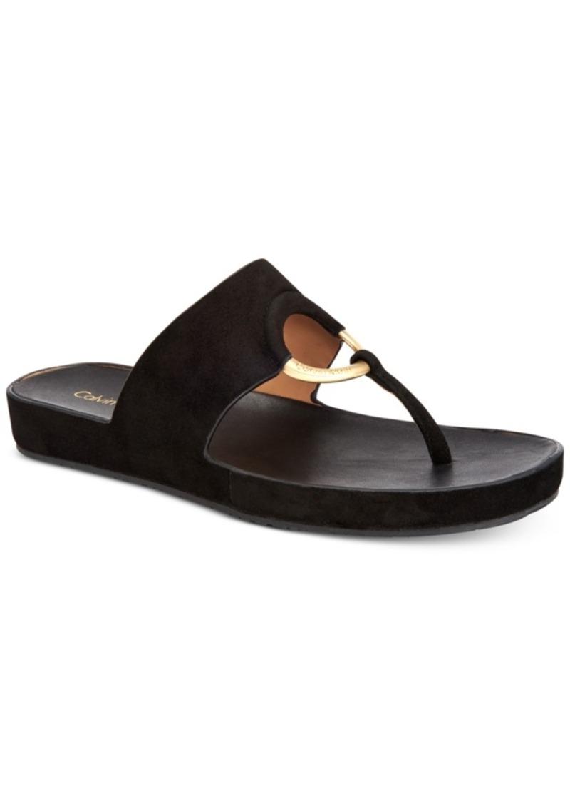 2293ff14a2d6 Calvin Klein Calvin Klein Women s Mali Slide-On Thong Sandals ...