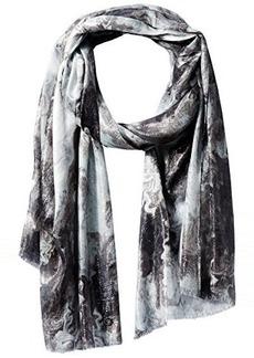Calvin Klein Women's Marble Liquid Lurex Scarf
