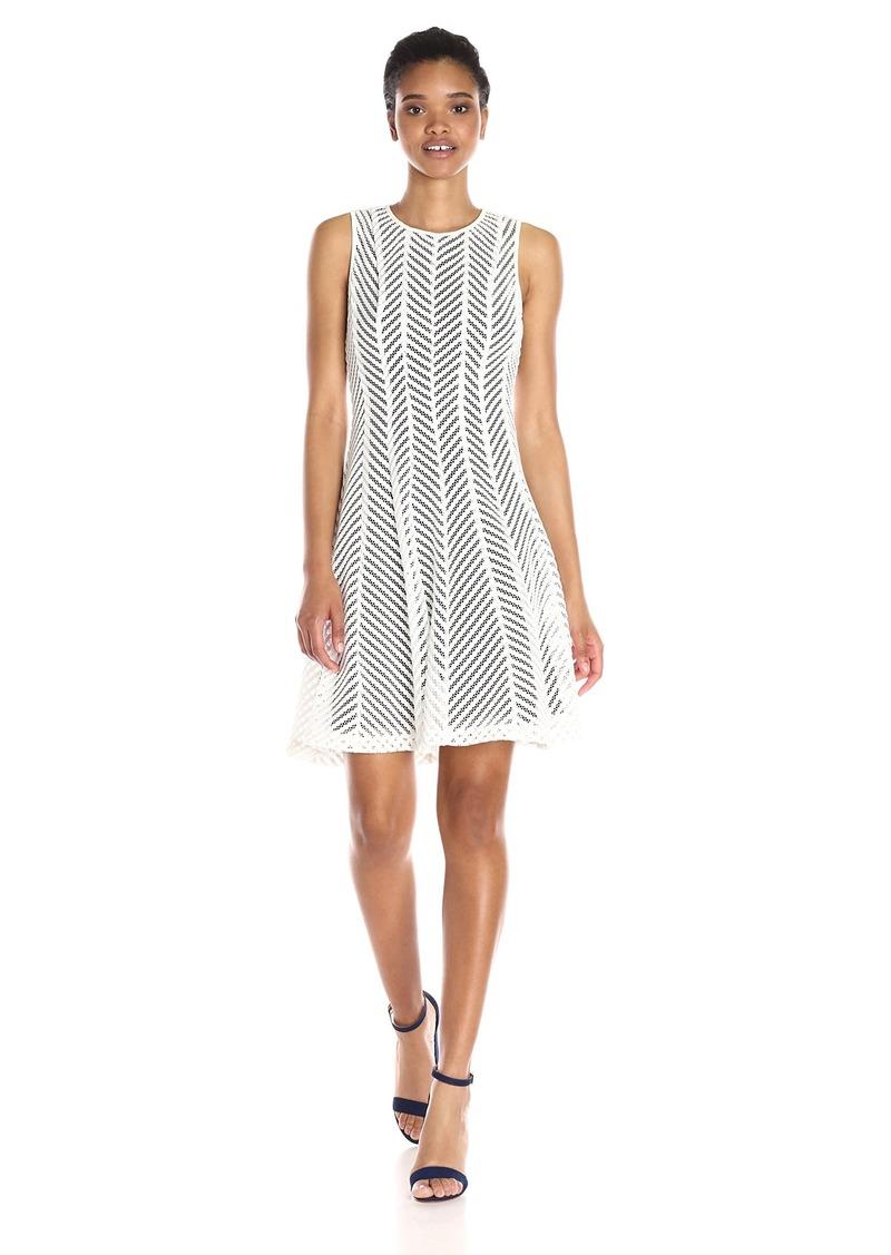Calvin Klein Women's Mesh Stripe Dress