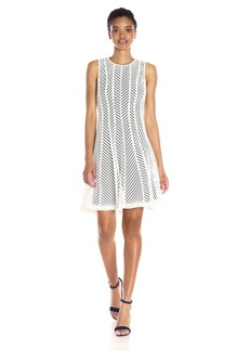 Calvin Klein Women's Mesh Stripe Dress