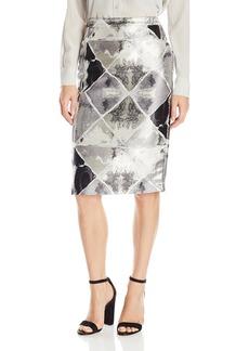 Calvin Klein Women's Metallic Pencil Skirt