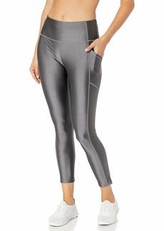 Calvin Klein Women's Metallic Shine High Waist Side Pocket Tight