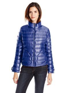 Calvin Klein Women's Metallic Short Packable Jacket