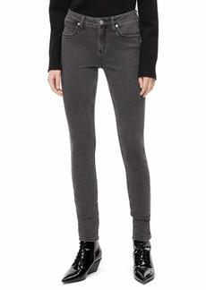 Calvin Klein Women's Mid Rise Skinny Fit Jeans seattle grey 30W X 32L