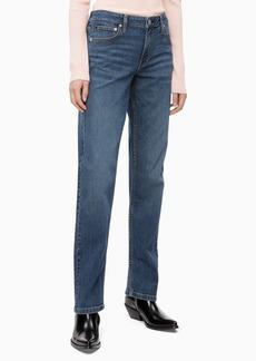 Calvin Klein Women's Mid Rise Straight Fit Jeans Hamptons Blue 32X30