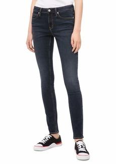 Calvin Klein Women's Mid Rise Super Skinny Fit Jeans Portland blue/black 33W X 30L