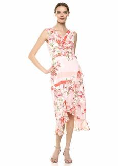 Calvin Klein Women's Midi Dress with Chiffon Ruffle