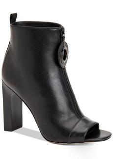 Calvin Klein Women's Minda Peep-Toe Ankle Booties Women's Shoes