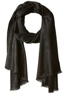 Calvin Klein Women's Mini Sequin Scarf Accessory -black