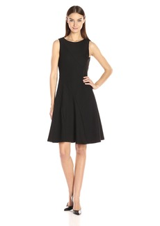 Calvin Klein Women's Mix Media Flare Dress
