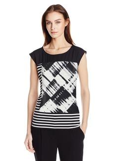 Calvin Klein Women's Mixed Print Top  S