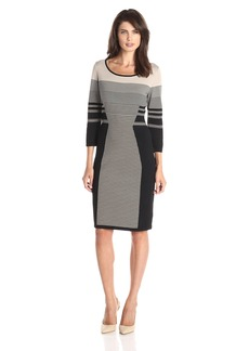 Calvin Klein Women's Mixed Stripe Dress  M