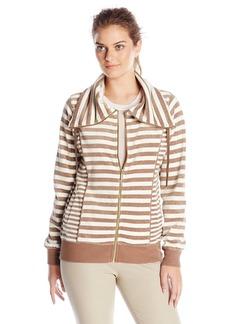 Calvin Klein Women's Mixed Striped Funnel Neck Sweater