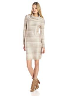 Calvin Klein Women's Mock Neck Spacedye Dress  L