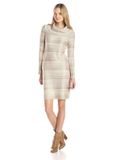 Calvin Klein Women's Mock Neck Spacedye Dress  M
