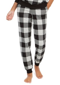 Calvin Klein Women's Modern Cotton Buffalo Check Sleep Jogger Pants