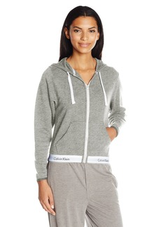 Calvin Klein Women's Modern Cotton Full Zip Hoodie Top  L