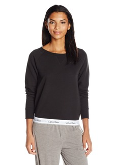 Calvin Klein Women's Modern Cotton Long Sleeve Sweatshirt  L